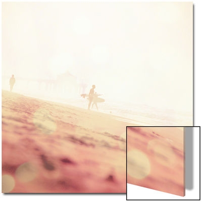 Beach Scene with Surfer in USA Art by Myan Soffia