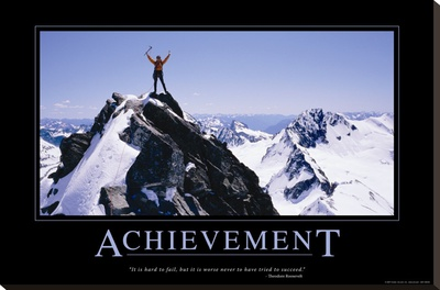 Achievement Stretched Canvas Print
