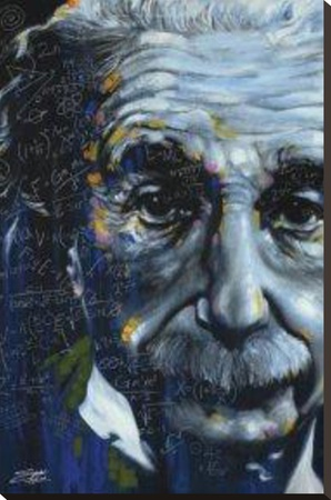 It's All Relative - Einstein Stretched Canvas Print by Stephen Fishwick