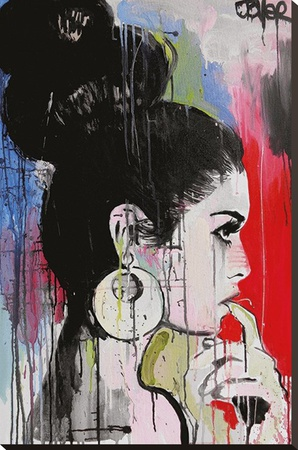 Jover- Planets Stretched Canvas Print by Loui Jover