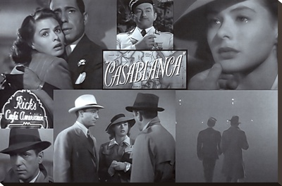 Casablanca Sträckt kanvastryck