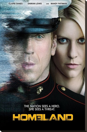 Homeland Television Poster Stretched Canvas Print