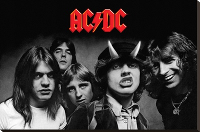 AC/DC Highway To Hell Stretched Canvas Print