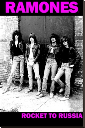 The Ramones- Rocket To Russia Stretched Canvas Print