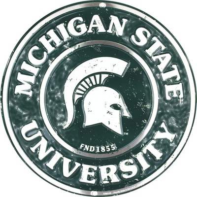 Michigan State Spartans Tin Sign