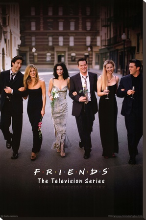 Friends Group Dressy TV Poster Print Stretched Canvas Print