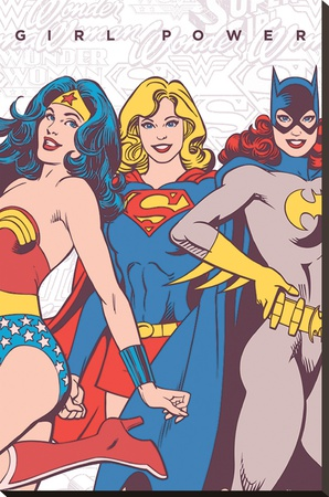 DC Comics- Girl Power Stretched Canvas Print