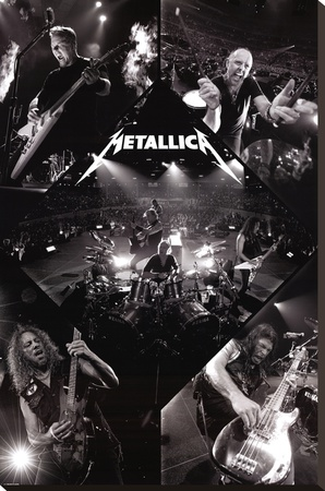 Metallica-Live Stretched Canvas Print