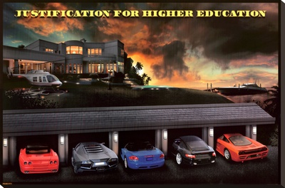 Justification For Higher Education Stretched Canvas Print