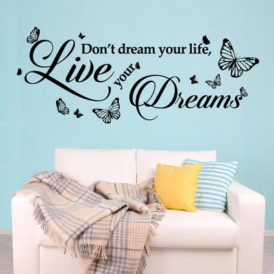 Dream Quote Muursticker
