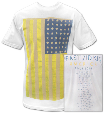 First Aid Kit- 2014 America Tour (Front/Back) T-shirts