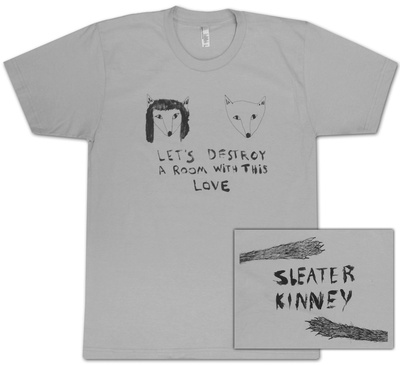 Sleater-Kinney- New Wave Animals (Front/Back) Shirts