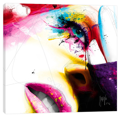 Sensual Colors Stretched Canvas Print by Patrice Murciano