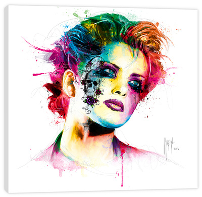 Skin Pop Stretched Canvas Print by Patrice Murciano