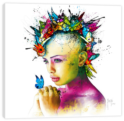 Power Of Love Stretched Canvas Print by Patrice Murciano