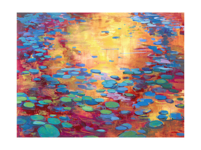 On the Pond 2 Premium Giclee Print by Mercedes Marin