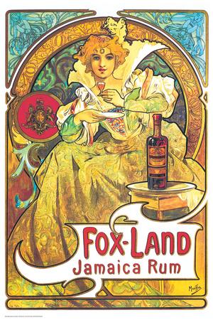 Alphonse Mucha- Fox Land Jamaica Rum Posters by Alphonse Mucha