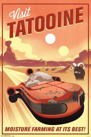 Star Wars- Visit Tatooine Print