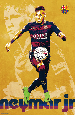 FC Barcelona- Neymar Jr 2016 Poster