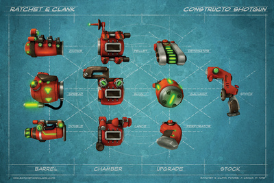 Ratchet And Clank: Future Series – A Crack in Time – Weapons Prints