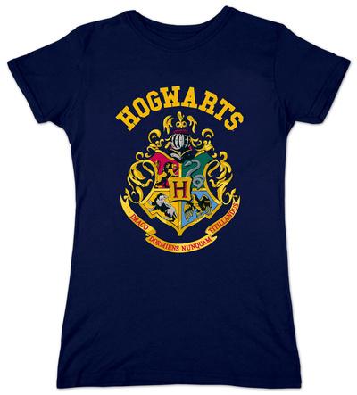 Juniors: Harry Potter- Hogwarts Crest T-Shirt