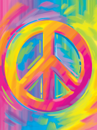 Brushstroke Peace Posters by Lisa Frank