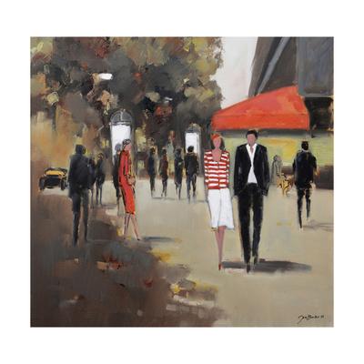 Caf» De La Paix - Paris Giclée-tryk af Jon Barker