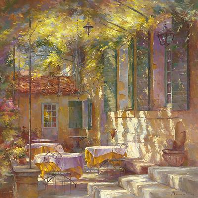 A l'Ombre de la Terrasse Prints by Johan Messely