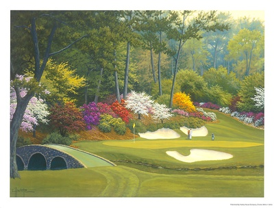 12th Hole at Augusta Print by Charles White