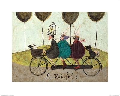 A Bikeful! Print by Sam Toft