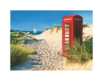 Beach Kiosk Posters by Margaret Heath