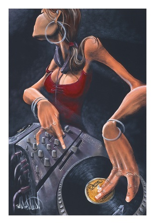 DJ Jewel Print by David Garibaldi