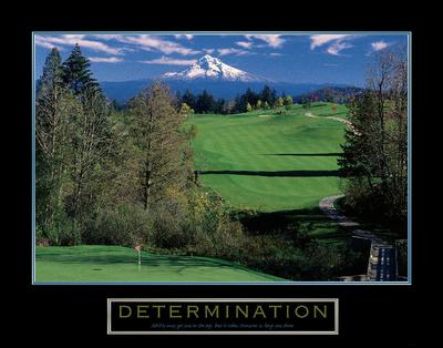Determination – Golf Prints by  Unknown