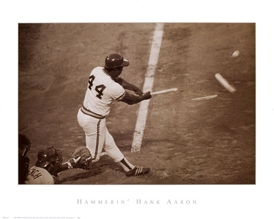 Hammerin' Hank Aaron Prints by  Bettmann/Corbis