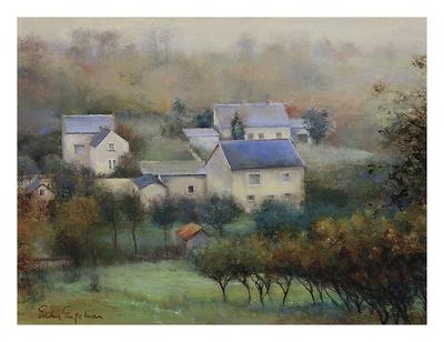 Countryside Hamlet Art by Esther Engelman
