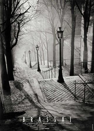 Escalier de la Butte Montmartre Prints by  Brassaï