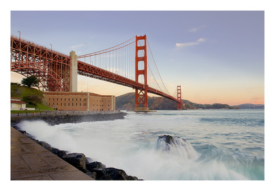 Golden Gate Bridge at Dawn Prints by Alan Blaustein
