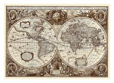 Nova Totius Terrarum Orbis Tabula Posters by Hendrik Hondius