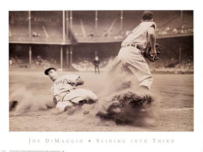 Joe DiMaggio – Sliding into Third Kunstdrucke von  Bettmann/Corbis