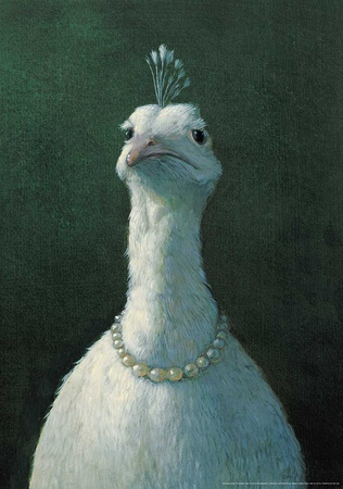Peacock with Pearls Prints by Michael Sowa