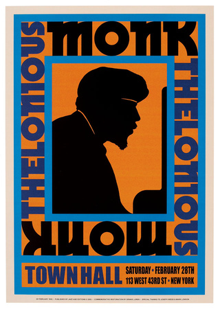 Thelonious Monk, 1959 Plakater af Unknown,