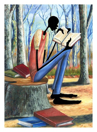 Taking in Knowledge Print by Elgina McCrary