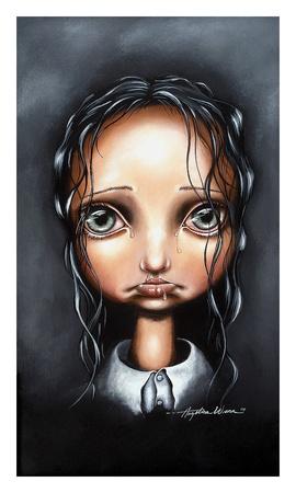 Poor Little Abigail Print by Angelina Wrona