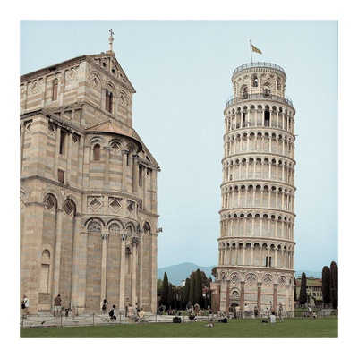 Pisa Tower 1 Poster by Alan Blaustein