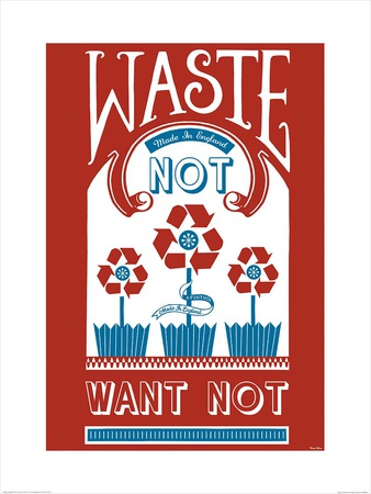 Waste Not Want Not Posters by Mary Fellows