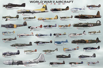 World War II Aircraft Posters by  Unknown