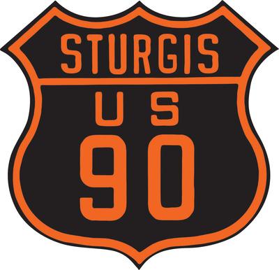 Sturgis US 90 Die Cut Tin Sign