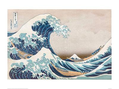 The Great Wave of Kanagawa Plakat