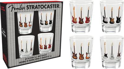 Fender Stratocaster Shot Glass Set Novelty