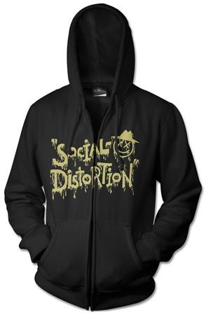 Zip Hoodie: Social Distortion- Sloppy Logo Zip Hoodie